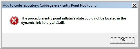 Cabbage_zlib.dll_error